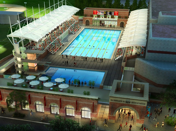 John a martin associates inc usc uytengsu aquatics swim stadium john a martin for San diego state university swimming pool